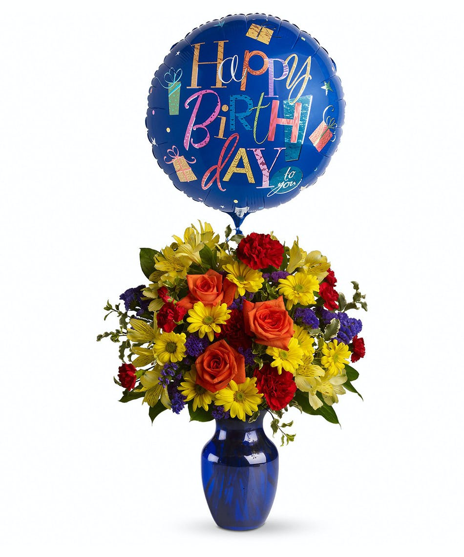 Birthday Flowers Balloon Bouquet Pueblo Co Campbells Flowers