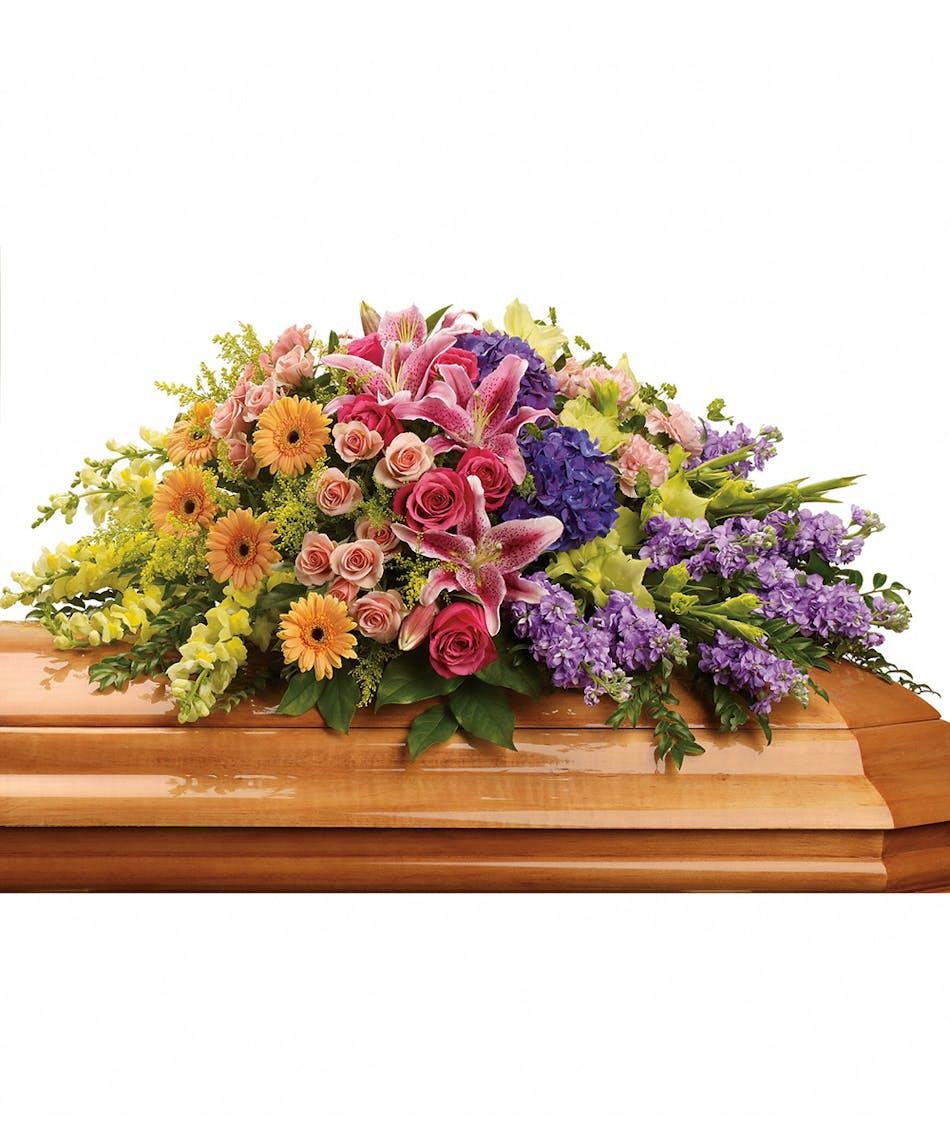 Garden Of Sweet Memories Casket Spray Florists Pueblo Co Same