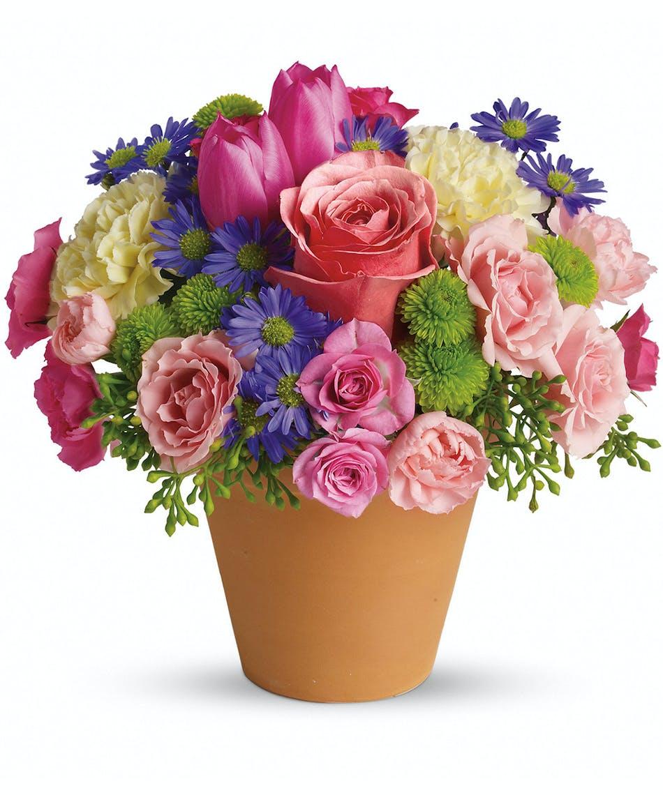 Spring Sonata Mixed Floral Bouquet Same Day Delivery Pueblo Co
