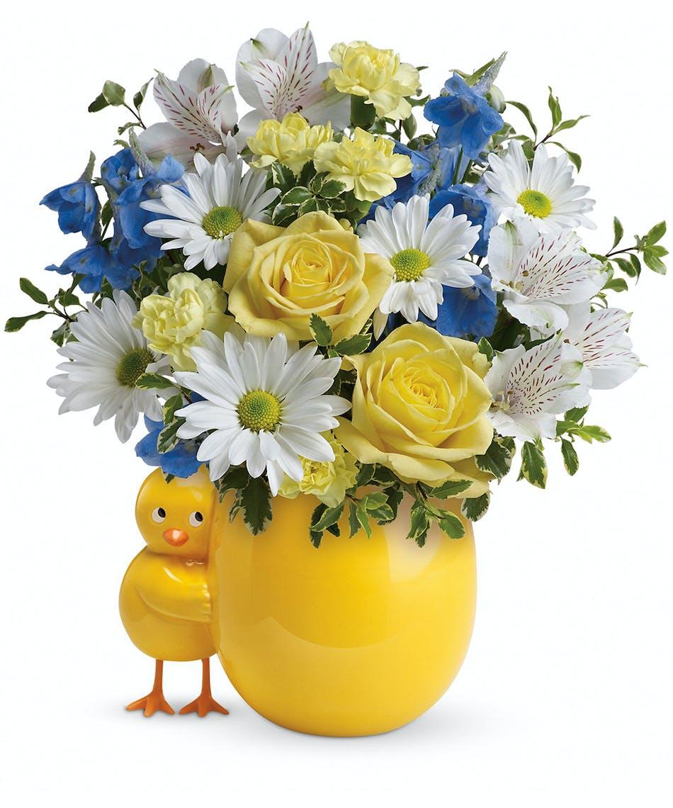 Sweet Peep Bouquet Baby Blue Florists Pueblo Co Same Day