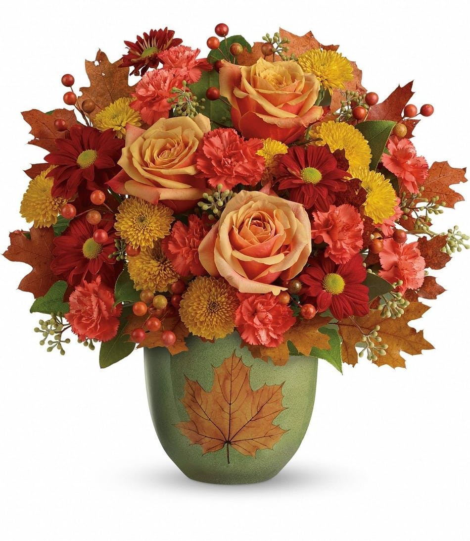Heart Of Fall Bouquet Florists Pueblo Co Same Day Delivery