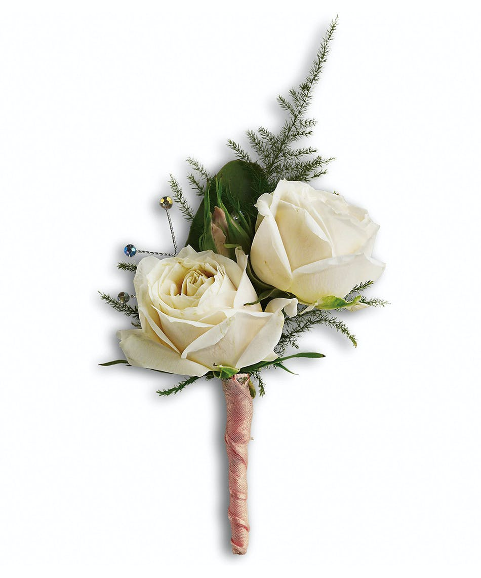White Tie Boutonniere Florists Pueblo Co Same Day Delivery